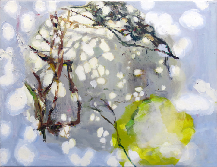 Judith Simonian,  Two Seasons,  2014, Acrylic on canvas, 26h x 34w in.