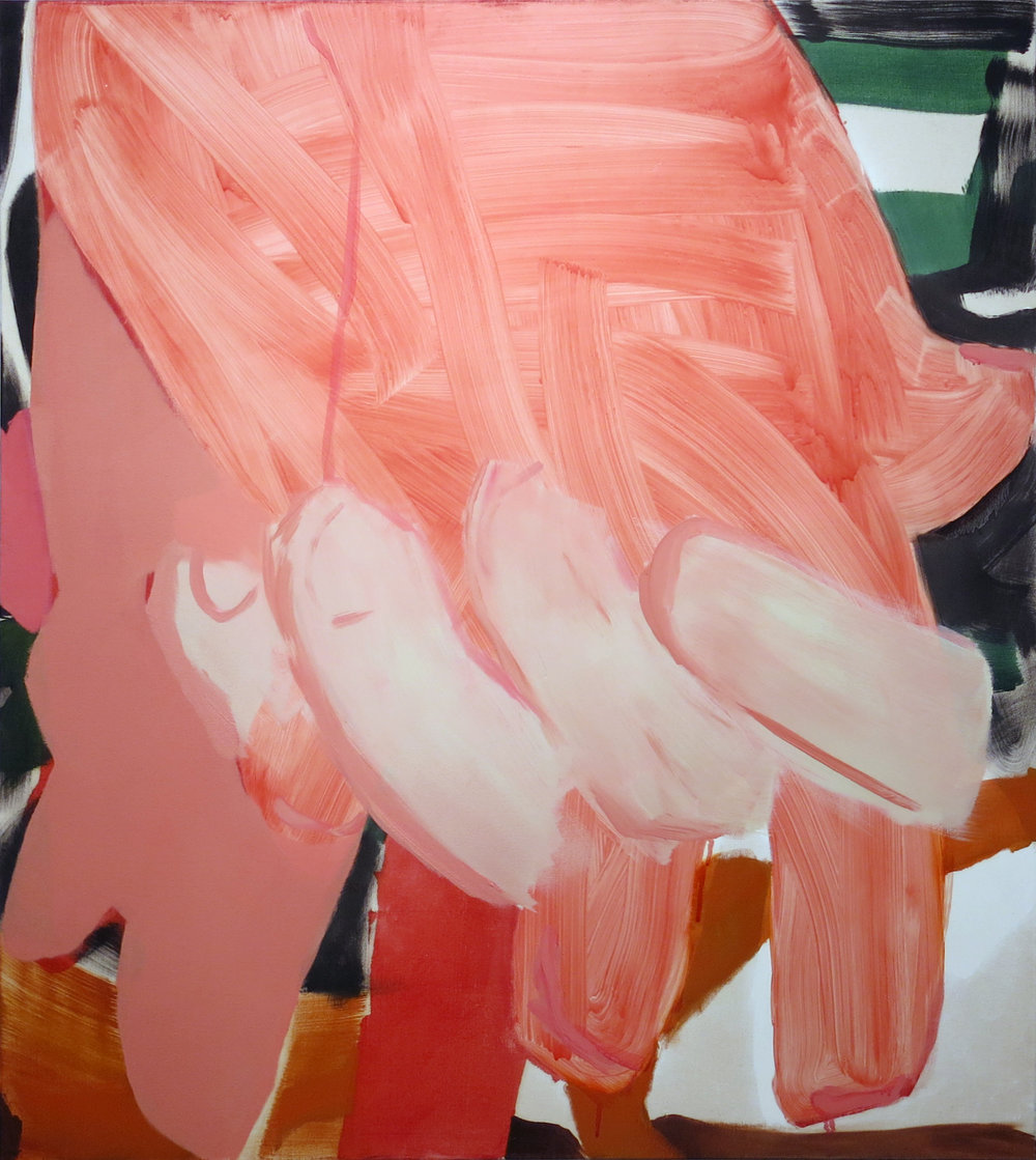 Sarah Faux,  Neither Yes nor No,  2014, oil on canvas, 50h x 44w in.