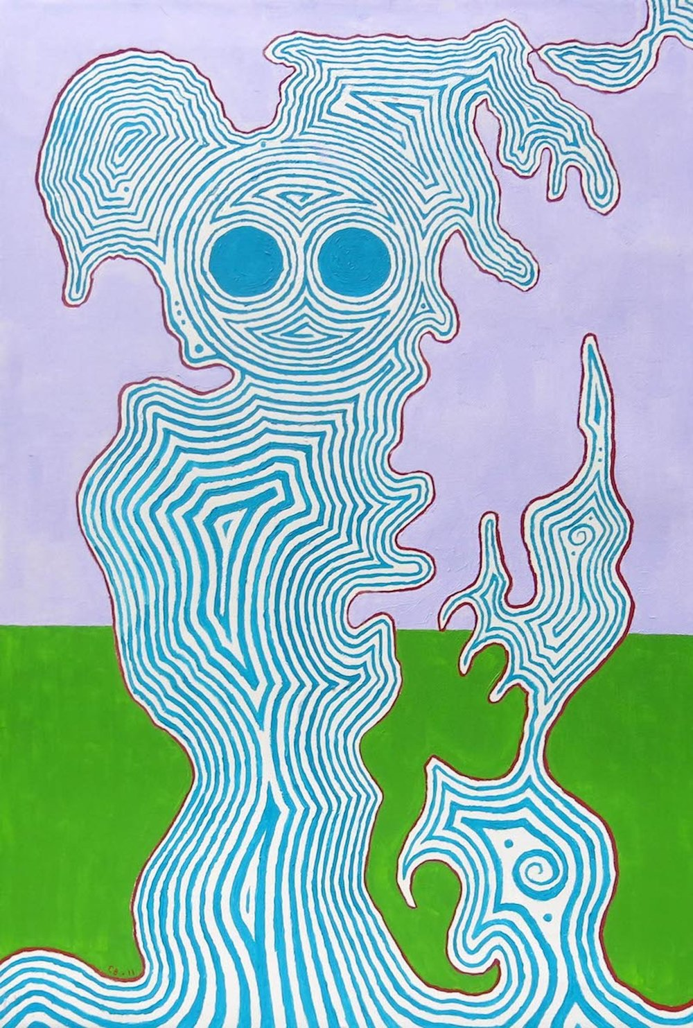 Chuck Boyce,  Blue Figure,  2011, oil on canvas, 30h x 20w in.
