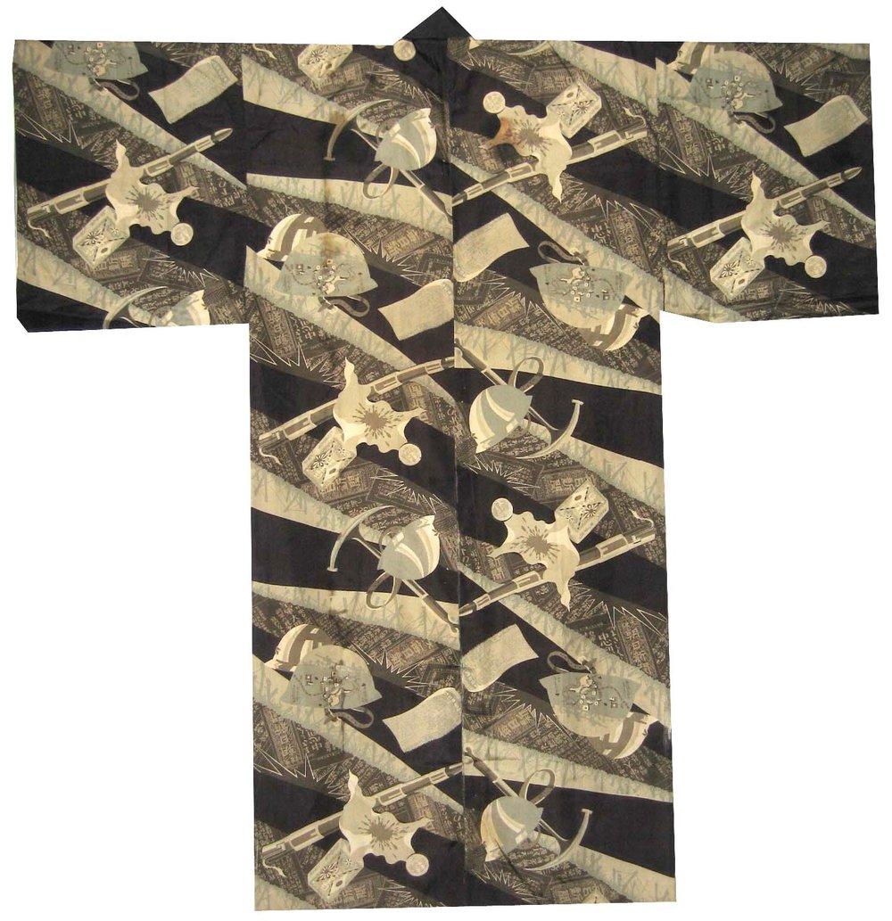Bakudan Sanyushi, Man's Nagajuban, c. 1933, silk, 50.5h x 51.25w in.