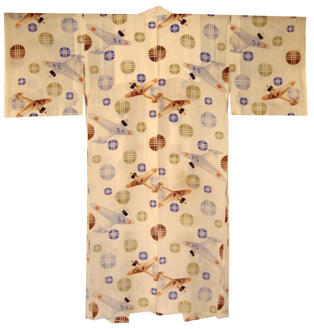 Zeroes,  Man's Nagajuban, c. 1937, silk, 49.5h x 50w in.