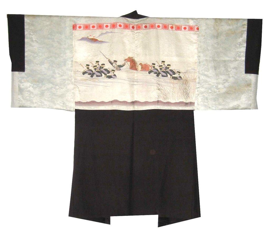 General Yamagata, Man's Haori, c. 1905, woven silk, 40.25h x 51.25w in.
