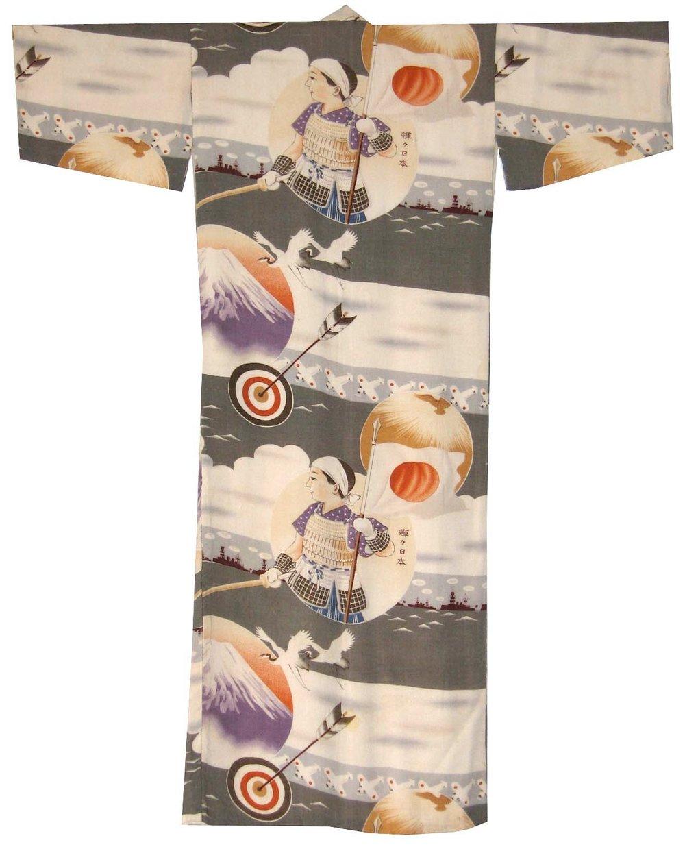 Archer, Boy's Kimono, c. 1940, rayon, 32h x 26w in.