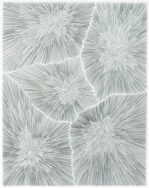 James Siena, No Man's Land, 2005, Engraving printed in black, 18.625h x 13.375w in.