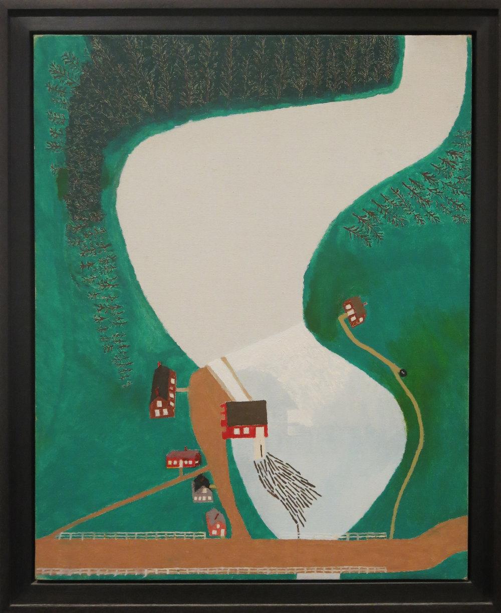George E. Morgan, Moulton Mill, 1963, Oil on canvas board, 20h x 16w in.