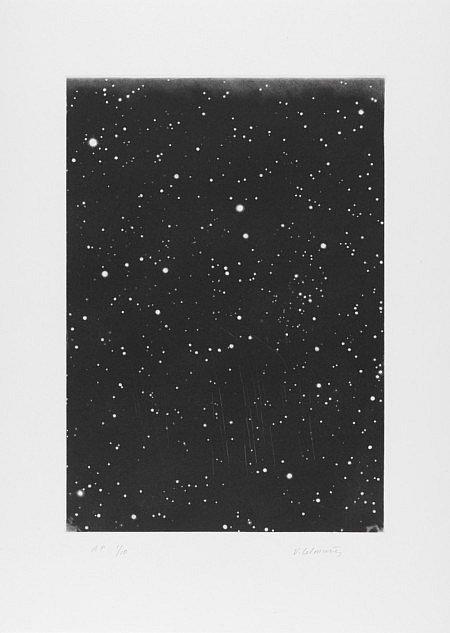 Vija Celmins, DARK GALAXY, 2010, mezzotint etching on Magnani Pescia Sarinato, 18.25h x 13.625w in.