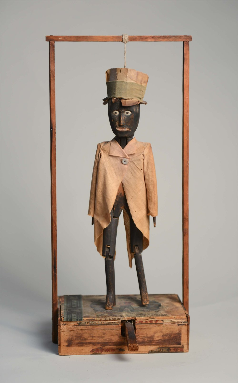 Anonymous, American,  Dancing Man,  c. 1920, mixed media, 20.5h x 9w x 5.5d in.