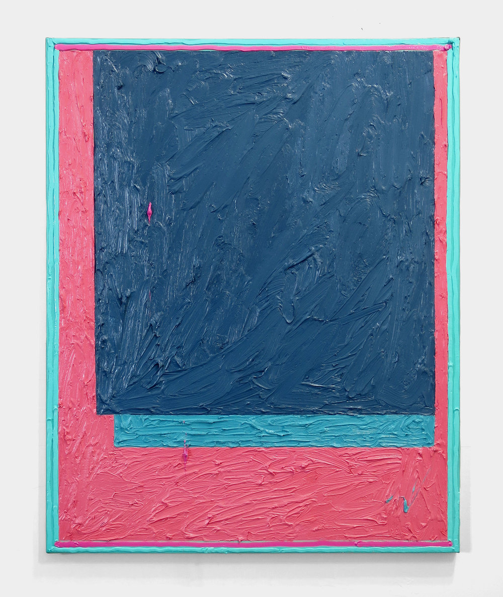 Russell Tyler,  GTP , 2014, oil on canvas, 30h x 24w in.
