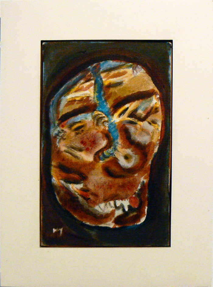 Henri Michaux, c. 1977,  Untitled , Acrylic, watercolor on panel, 8.75h x 6.5w in.