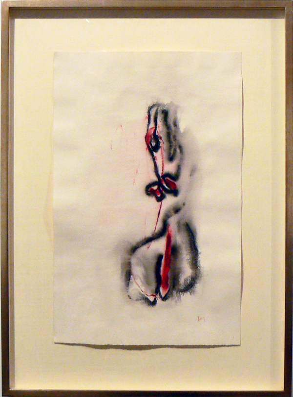 Henri Michaux, c. 1972,  Untitled , Watercolor on paper, 19.5h x 12.25w in.