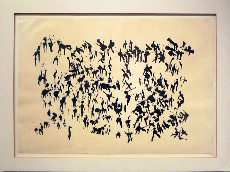 Henri Michaux, 1959,  Untitled , India ink on paper, 29.5h x 41w in.