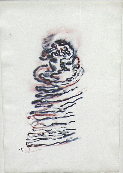 Henri Michaux, 1970,  Untitled , Watercolor on paper, 22h x 15.5w in.