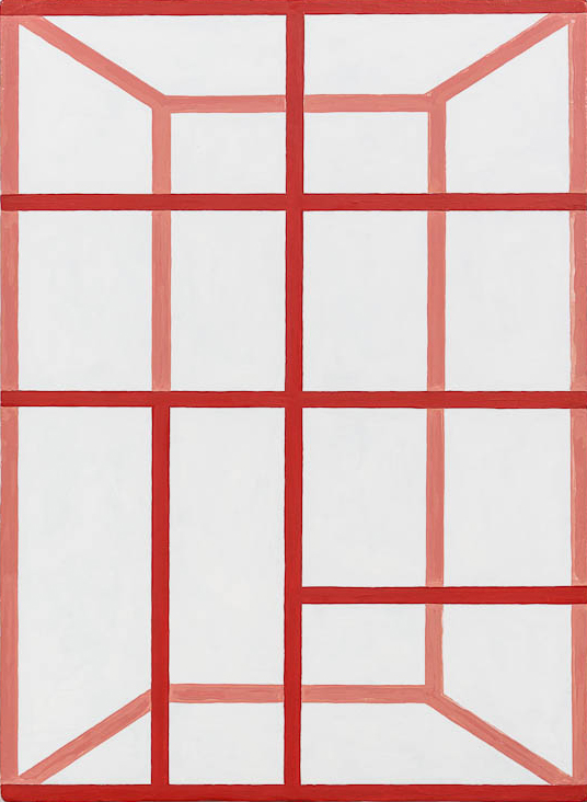 Andrew Spence, 2011,  Red Pink White , Oil on canvas, 22h x 16w in.