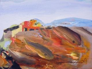 Judith Simonian, Fish in Nice , 2012, Acrylic on canvas, 15h x 20w in.