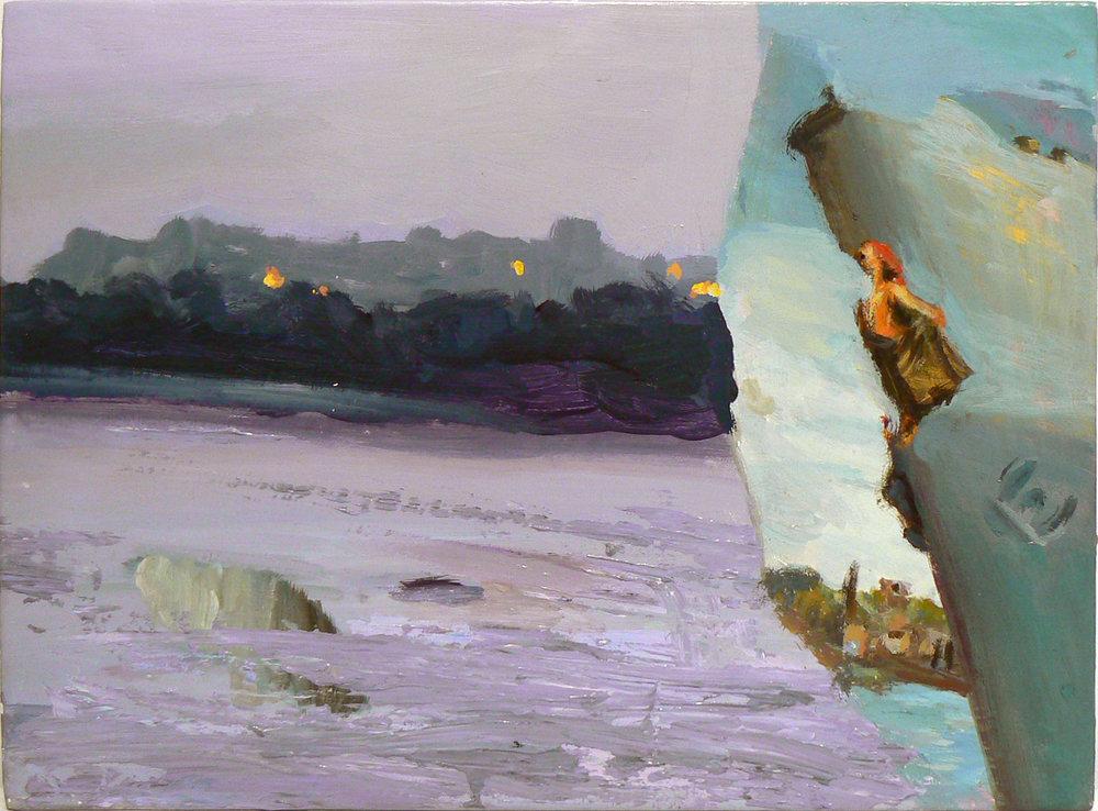 Judith Simonian, Little Sperlonga Norway , 2011, Acrylic on canvas, 11h x 15w in.