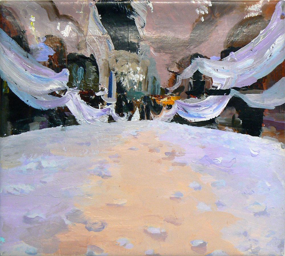 Judith Simonian, Lunar Wedding , 2011, Acrylic on canvas, 10h x 11w in.