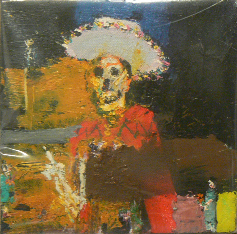 Matthew Blackwell,  Senor,  2009, oil on canvas, 8h x 8w in.