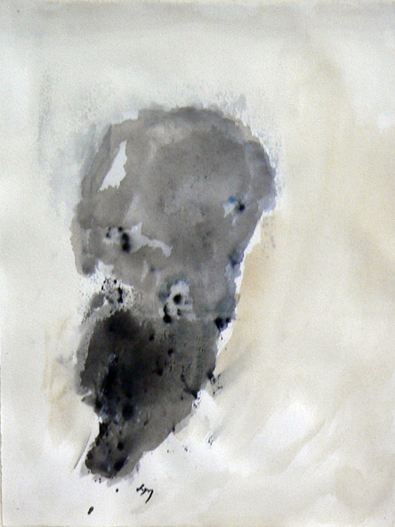 Henri Michaux,  Untitled,  1981, watercolor on paper, 15h x 11w in.
