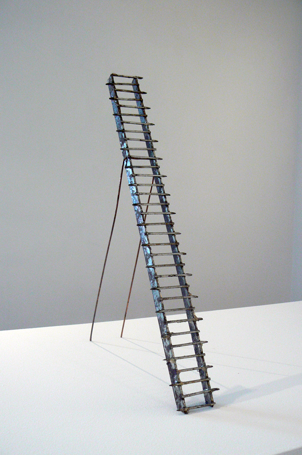 June Leaf,  Ladder,  2011, steel and copper, approx. 17.5h x 2.27w x 8d in.