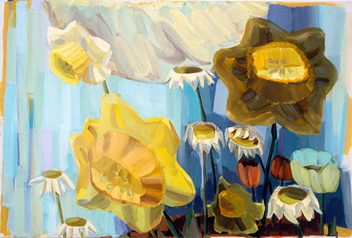 Judith Linhares, 2011,  Easter Bells,  oil on linen, 40h x 60w in.