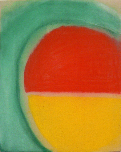 Andrew Guenther,  Green Wave , 2012, Pastel on unprimed canvas, 20h x 16w in.
