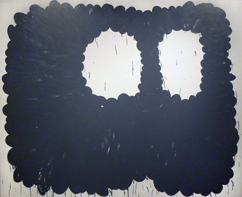 Amy Feldman,  OOs , 2012, Acrylic on canvas, 80h x 96w in.