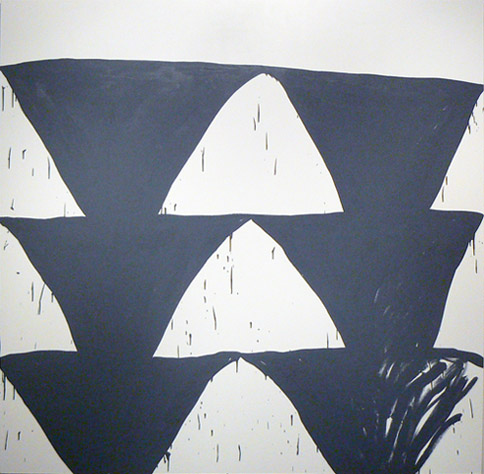 Amy Feldman,  Sweat Chevs , 2012, Acrylic on canvas, 80h x 80w in.
