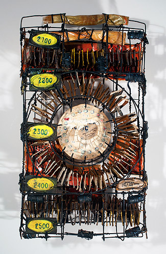 George Widener, 2012, Juke Box , Wire and mixed media, 28h x 15.5w x 6d in.