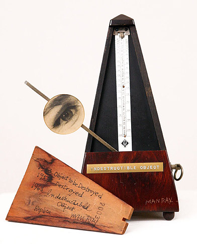 Man Ray, 1923/63,  Indestructible Object   Metronome, 8.5h x 4w x 4.5d in., Signed