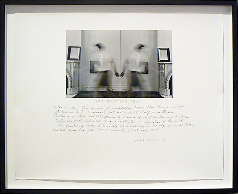 Duane Michals, 1978, Now Becoming Then, Gelatin silver print with hand applied text, Paper: 11h x 14w in., Signed, titled, numbered and annotated recto in ink, From an edition of 25