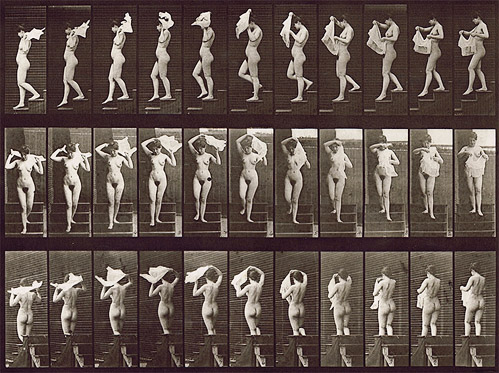 Eadweard Muybridge, 1887, Animal Locomotion Plate 133: Nude Descending a Staircase , Collotype, 21h x 25w in. (framed)