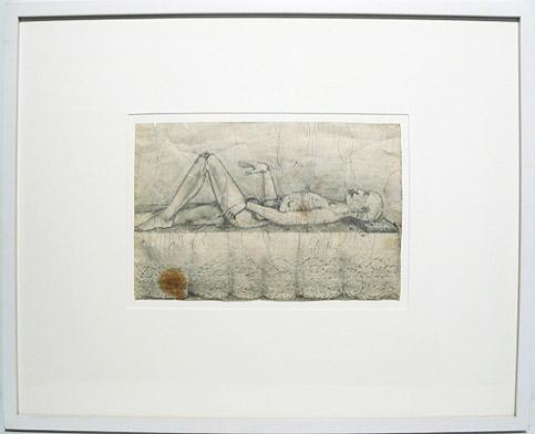 June Leaf, 1951, Operation , Pencil on paper, 16.75h x 20.75w in. (framed)