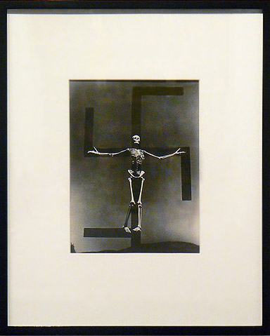 Paul Strand, 1939,  Skeleton/Swastika , Connecticut, Vintage gelatin silver print  17.75h x 14.75w in., framed