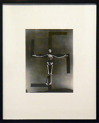 Paul Strand, 1939, Skeleton/Swastika , Connecticut, Vintage gelatin silver print  17.75h x 14.75w in., framed