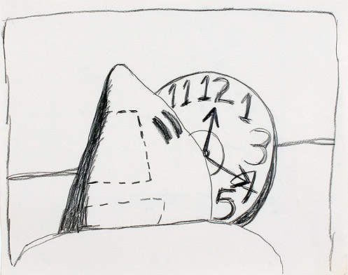 Philip Guston (American, c. 1913-1980),  Untitled , c. 1969, Pencil on paper, 24h x 27.75w in. (framed)