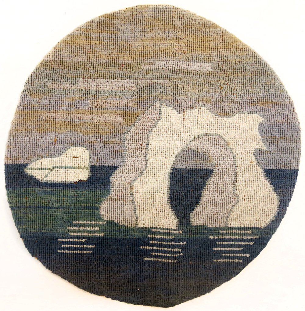 Anonymous, The Grenfell Mission,  Round Arch Iceberg,  c. 1935-45, silk and rayon; dyed, 12 in diam.