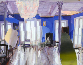 Judith Simonian,  French Blue Studio,  2007, acrylic on canvas, 14h x 18w in.