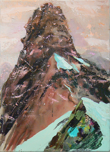 Judith Simonian,  Rock Candy Mountain,  2010, acrylic on canvas, 28h x 20w in.