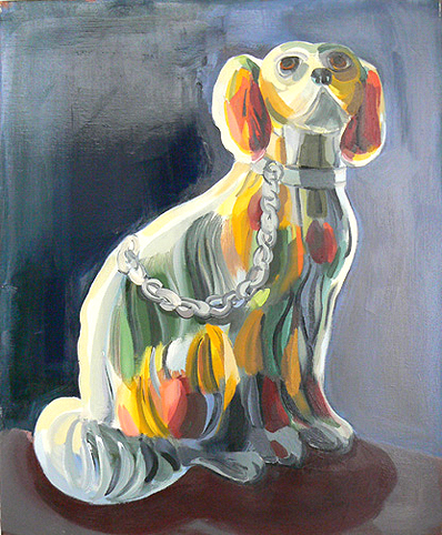 Judith Linhares,  Straw Dog,  2009, oil on linen, 26h x 22w in.