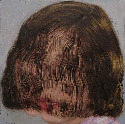 Clare Grill,  Yoke,  2010, oil on linen, 12h x 12w in.