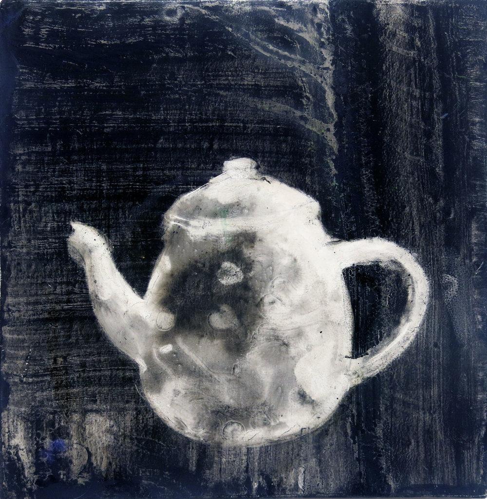 Herbert Reichert,  Untitled (teapot 3) , 2016, oil on wood, 12h x 12.5w in.