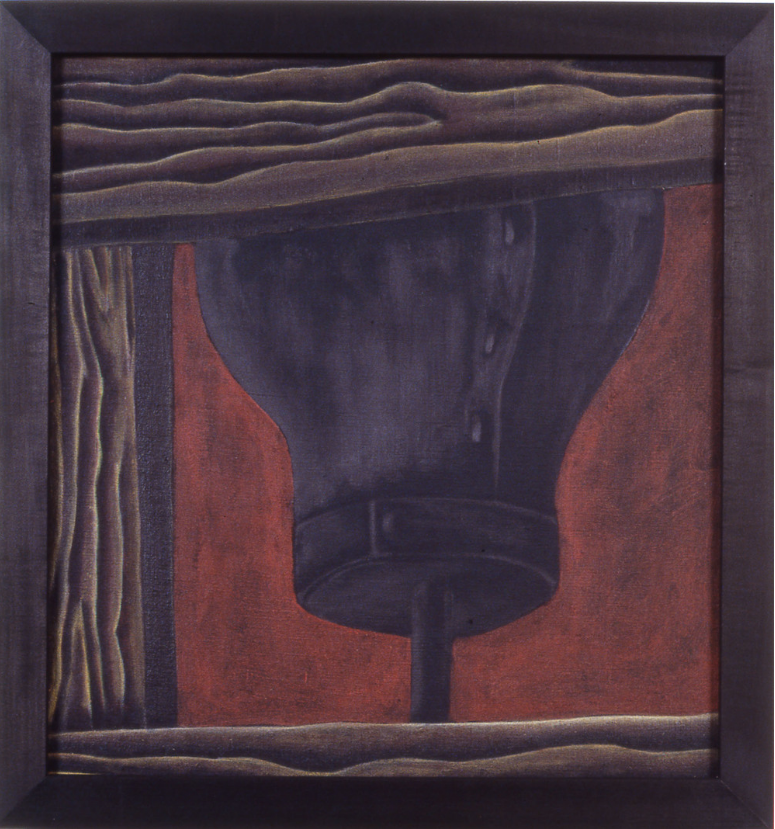 Patrick Dunfey,  Bully,  1987, pastel, ink, graphite, polymer on linen, 19.25h x 18w in.