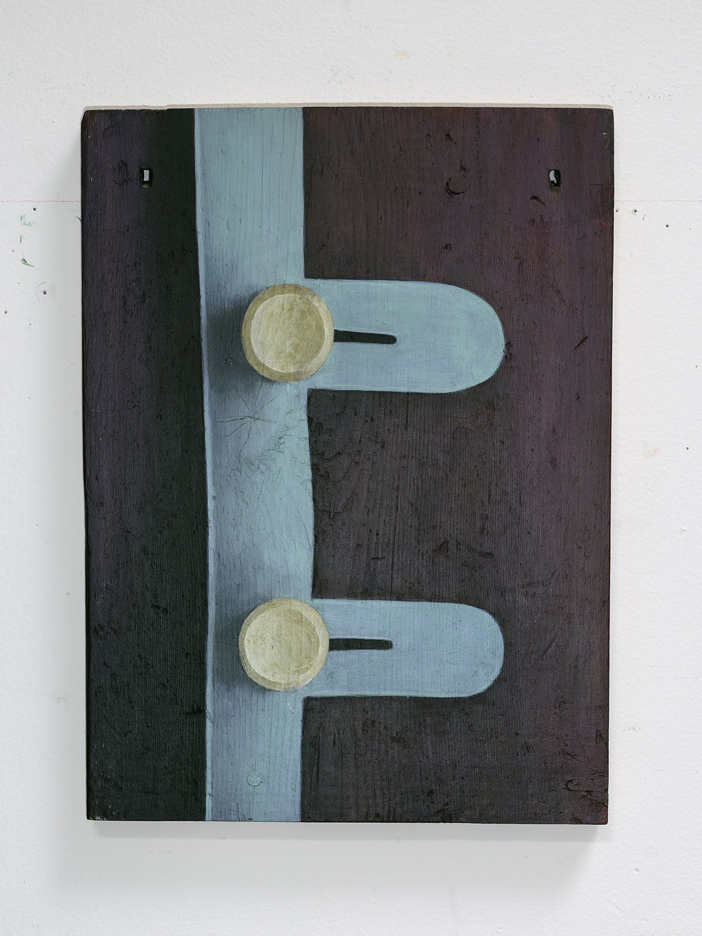 Patrick Dunfey,  Nugent,  1992, pigment, acrylic polymer, and gesso on board, 12.75h x 9.5w in.