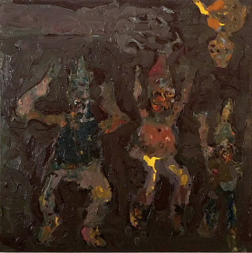 Farrell Brickhouse,  Expulsion 2,  2017, oil on canvas, 30h x 30w in.