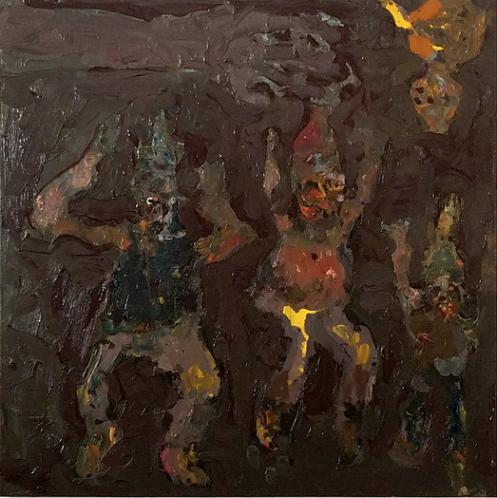 Farrell Brickhouse,  Expulsion 2,  2017, oil on canvas, 30h x 30w in.