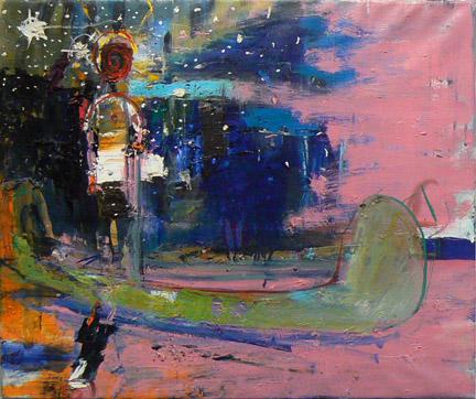 Matthew Blackwell,  Crossing Over,  2011, oil on linen, 22h x 26w in.