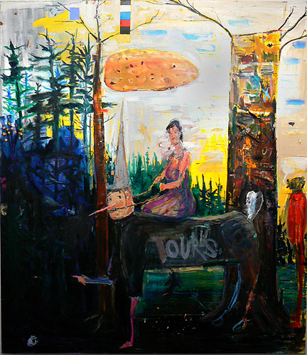 Matthew Blackwell,  Last Day of the Year,  2009-2011, acrylic and oil on canvas, 84h x 72w in.