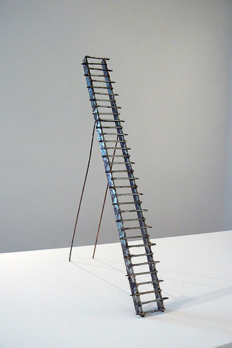 June Leaf,  Ladder,  2011, steel, copper, 17.5h x 2.75w x 8d in.