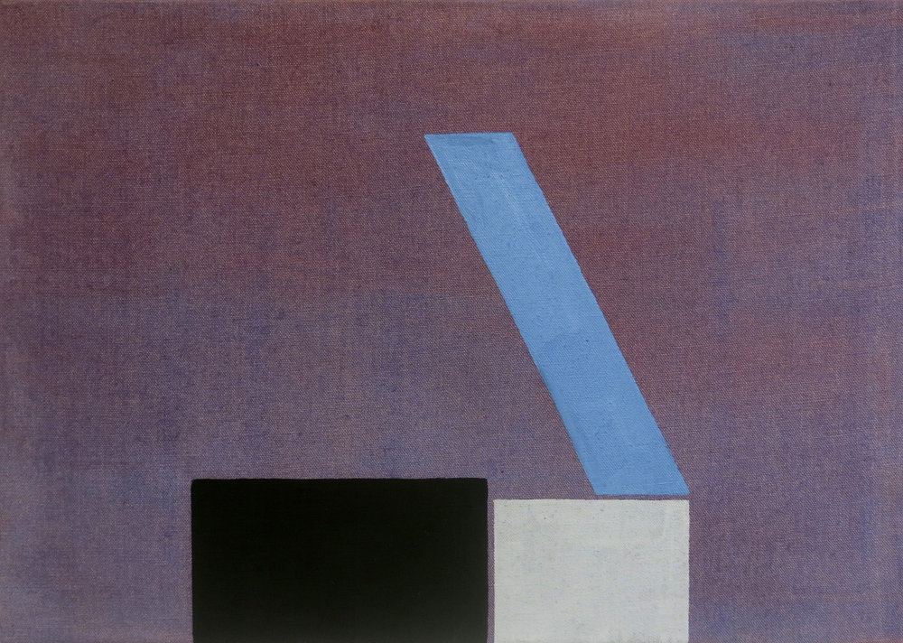 Liv Mette Larsen,  Concrete Factory XXXII,  2016, egg tempera on linen, 17h x 24w in.