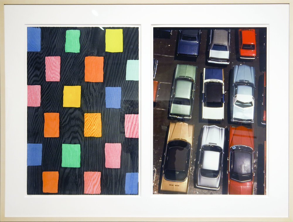 Mary Heilmann,  Thief of Baghdad , 2007, Woodcut, linocut, & archival pigment inkjet, 28 7/8h x 15 3/8w in. Ed. 35 of 35